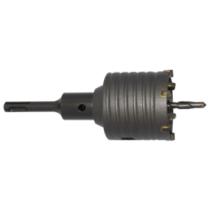 Koronafúró SDS Plus befogással különböző átmérőben adapterrel és központfúróval